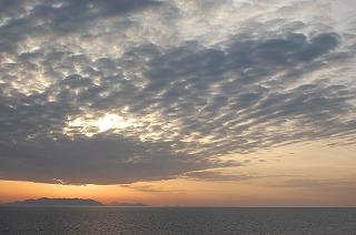 フェリーから見た朝の風景