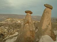 カッパドキアのギョレメ国立公園と岩石群